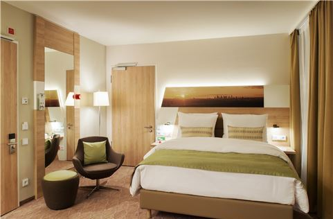 Wheelchair Accessible Queen Bed at Frankfurt Airport Hotel, Germany
